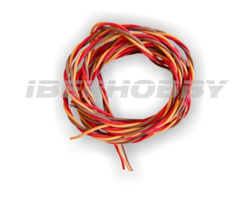 CABLE SERVO TRENZADO SILICONA 0,50 mm² 5 mts.